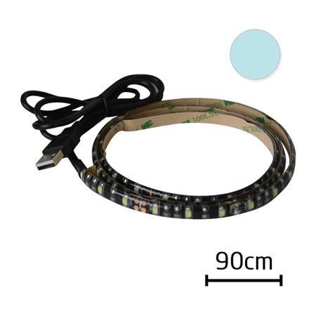 Tipa LED pásek Geti GLS33C za TV 90cm 5V USB konektor, STUDENÁ BÍLÁ